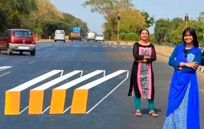 Buscan proteger a los peatones en India