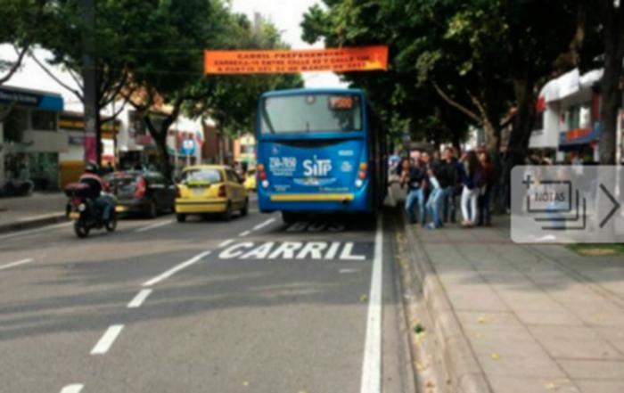 Nuevos carriles preferenciales para el SITP en Bogotá