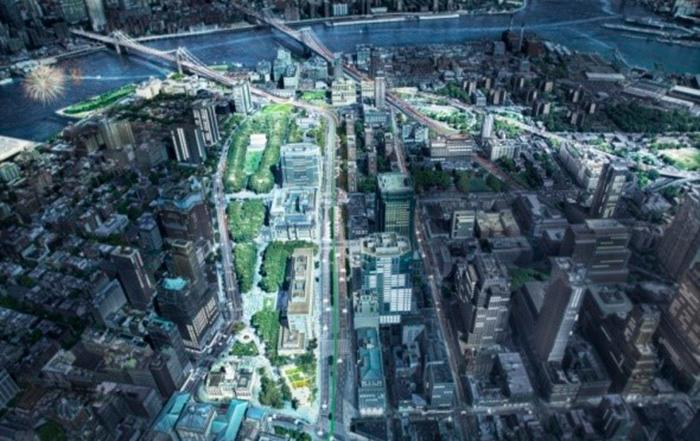 """Plan """"Brooklyn Strand"""" ampliación espacio publico"""
