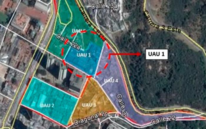 Delimitación de la Unidad de Actuación Urbanística No. 1 del plan parcial Fenicia